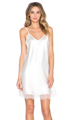 homebodii Alya Lace Trim Slip in White