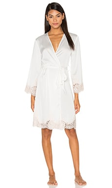 homebodii Bride Embroidered Robe in White