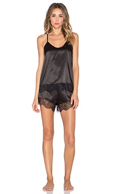 homebodii Alexis Cami & Short Set in Black