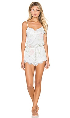 homebodii Sophia Lace Romper in Floral