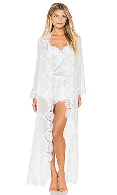 homebodii Helena Long Robe in White