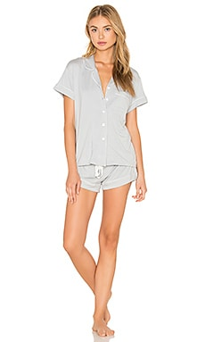 homebodii Abigail Short PJ Set in Pumice
