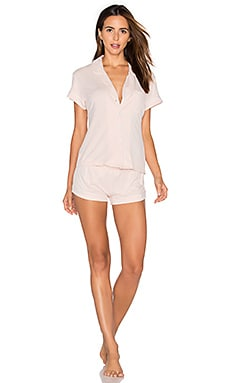 Abigail Short PJ Set in Blush