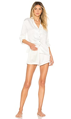Long Sleeve Piping PJ Set homebodii $99