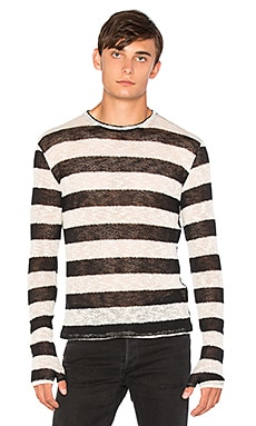 Homme Boy Long Sleeve With Gloves in Stripe