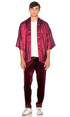 Homme Boy Kimono in Red Paisley