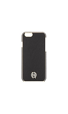 House of Harlow 1960 Snap iPhone 6 Case in Black Leather & Gold Metallic