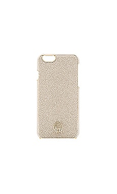 House of Harlow 1960 Snap iPhone 6 Case in Grey Galuchat & Gold Metallic