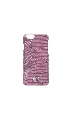 House of Harlow 1960 Snap iPhone 6 Case in Pink Lizard & Silver Metallic