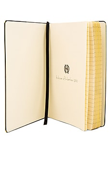 House of Harlow Zigzag Journal in Black & Gold
