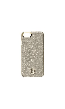 Snap iPhone 7 Case in Grey Galuchat & Gold Metallic