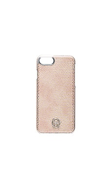 Snap iPhone 7 Case en Rose Serpent & Argent Métallisé