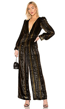 x REVOLVE Charo Silk Jumpsuit House of Harlow 1960 $129