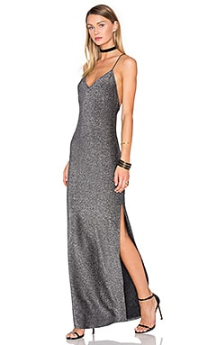 x REVOLVE Rae Cross Back Dress in Silver