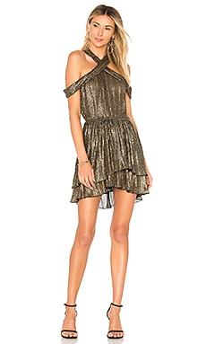 x REVOLVE Danielle Dress in Metallic Gold. - size M (also in L,XL) House Of Harlow