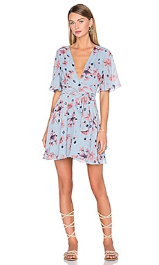 House of Harlow 1960 x REVOLVE Harper Wrap Dress in Blue Floral