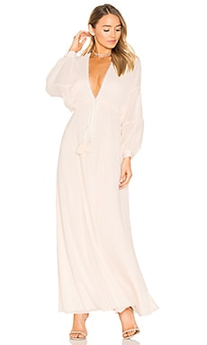 x REVOLVE Leslie Maxi Dress in Pearl
