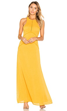 x REVOLVE Allegra Maxi Dress in Mustard