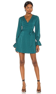 x REVOLVE Mini Wrap Dress House of Harlow 1960 $198