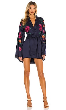 x REVOLVE Mika Kimono Mini Dress House of Harlow 1960 $228 NOUVEAU