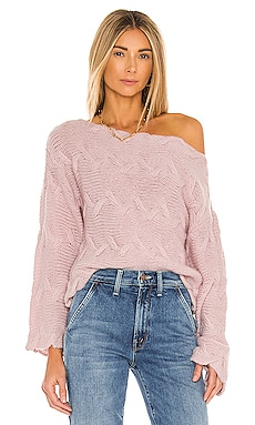 x REVOLVE Elaina Braided Sweater House of Harlow 1960 $188