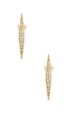 House of Harlow Sparkling Marquis Earrings in Gold