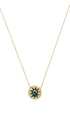 House of Harlow Mini Sunburst Necklace in Abalone