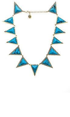 House of Harlow Triangle Theorem Necklace in Gold & Turquoise
