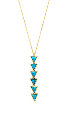 House of Harlow Ascension Pendant Necklace in Gold & Turquoise