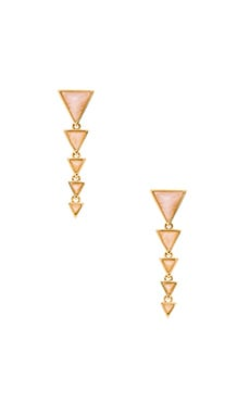 House of Harlow Meteora Drop Earring in Gold & Rose Quartz