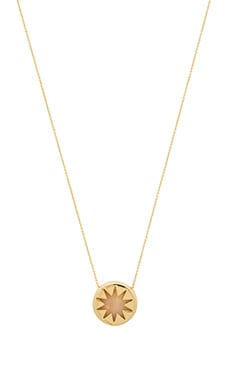 House of Harlow Mini Sunburst Quartz Necklace in Rose