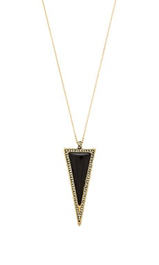House of Harlow Delta Pendant Necklace in Gold & Black