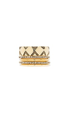 House of Harlow Shakti Ring Stack in Gold