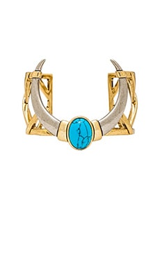 House of Harlow Ankolie Horn Cuff in Gold & Turquoise