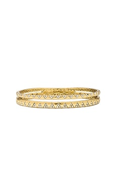 House of Harlow Outland Split Bangle in Gold & White