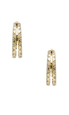 House of Harlow Outland Split Hoop Earring in Gold
