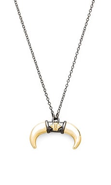 House of Harlow Noble Tribe Horn Necklace in Gold & Gunmetal