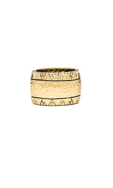 House of Harlow Safari Band Ring in Gold