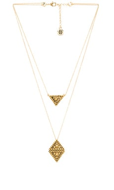 House of Harlow Central Highlands Double Strand Necklace in Gold