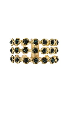 House of Harlow Cuzco Bracelet in Gold & Malachite