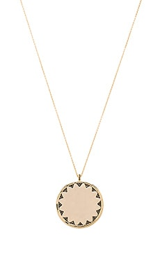 House of Harlow Incan Sun Coin Pendant Necklace in Gold