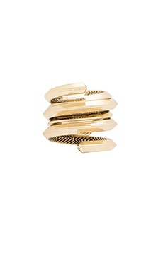 House of Harlow Caral Culture Ring Set in Gold