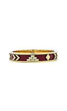 House of Harlow Aztec Bangle in Gold & Sangria