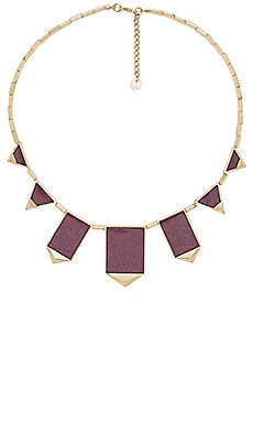 House of Harlow Classic Station Pyramid Necklace in Gold & Sangria