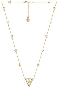 House of Harlow Triangle Trellis Necklace in Gold