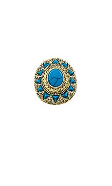 House of Harlow Wari Ruins Cocktail Ring in Gold & Turquoise
