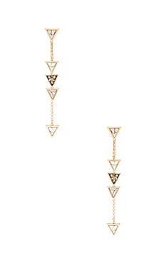House of Harlow Triangle Trellis Drop Earring in Smokey Grey
