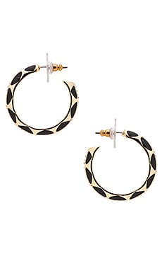 House of Harlow Spectrum Hoop Earring in Gold & Black