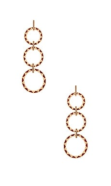 House of Harlow Spectrum Drop Earring in Gold & Merlot