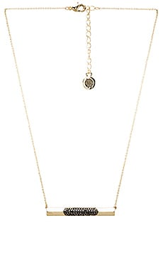 House of Harlow Modern Revival Bar Necklace in Gold & Hematite Pave